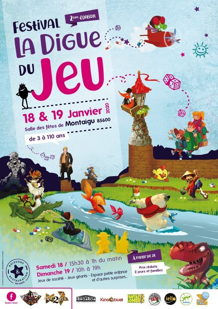 Affiche officielle de La digue du jeu