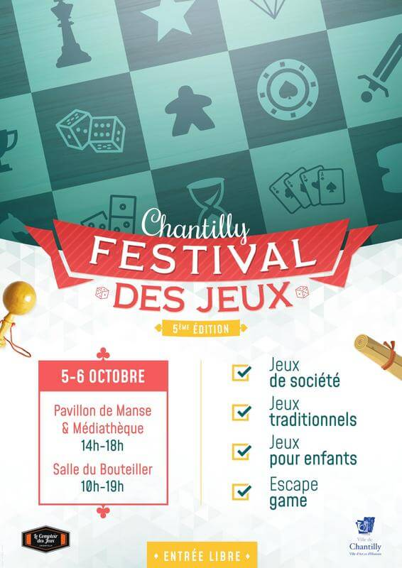 Affiche officielle de Festival des Jeux de Chantilly