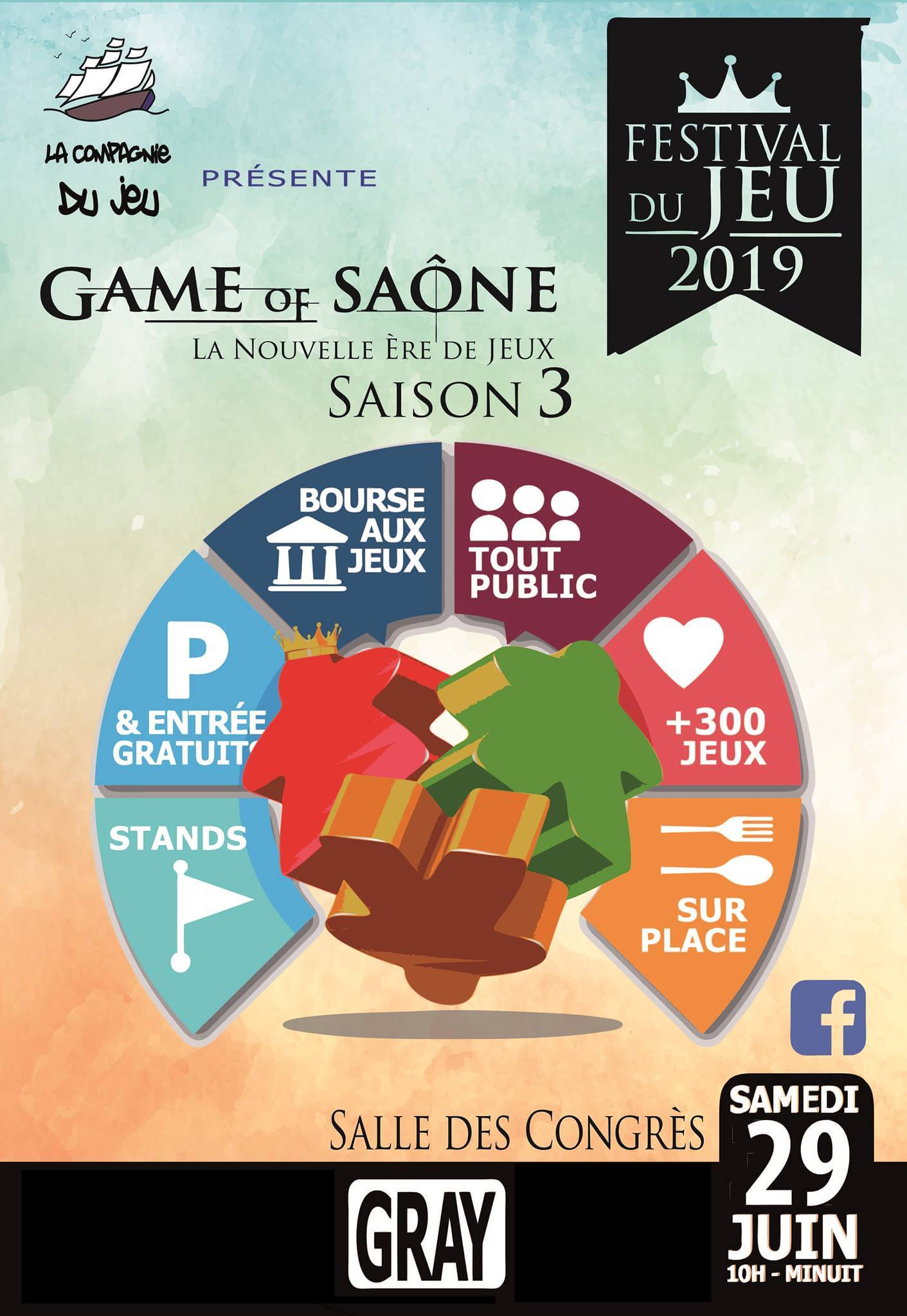 Affiche officielle Game of Saône 2019