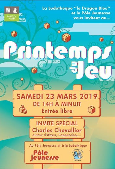 Affiche officielle de Printemps du jeu