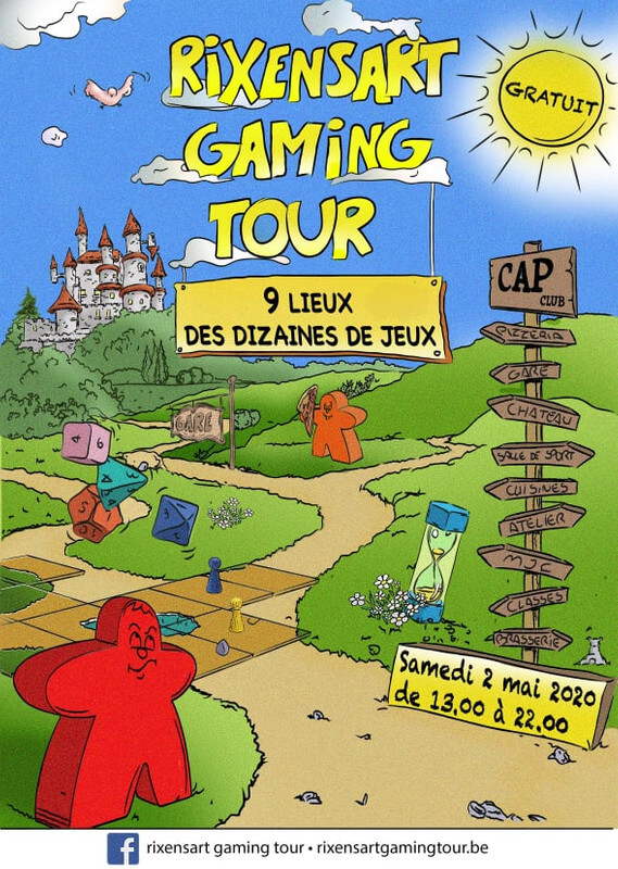 Affiche officielle Rixensart Gaming Tour 2020
