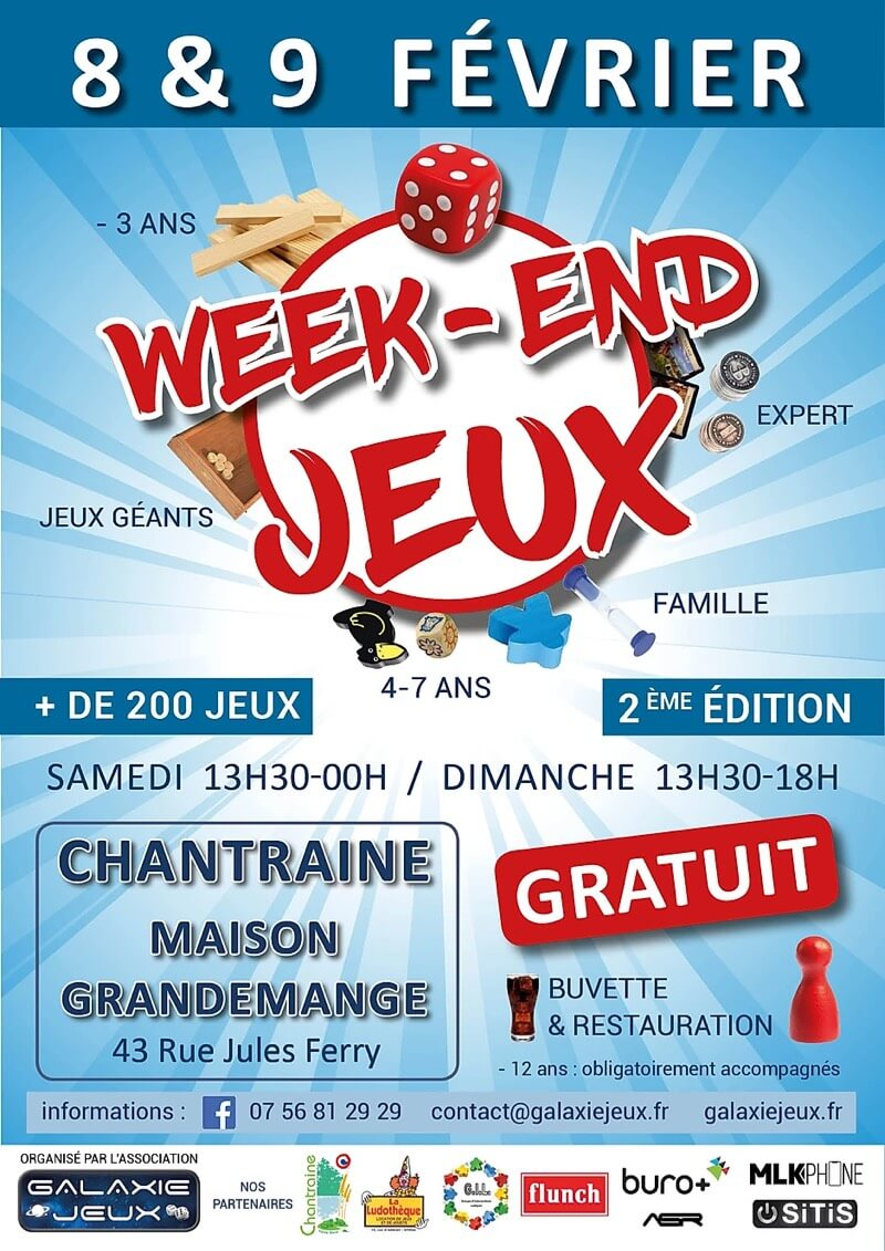 Affiche officielle Week-end Jeux 2020